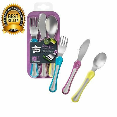 First Grown Up Baby Toddler Cutlery Set (Variable Colours) Lightweight Soft Grip