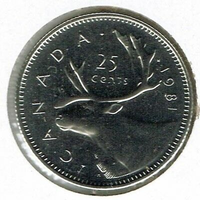1981 Canada Caribou Proof Like 25C coin!