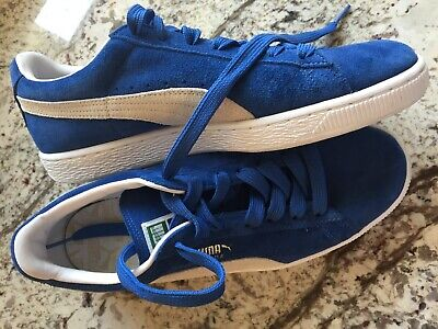 newest 5e376 298c4 PUMA SUEDE CLASSIC SNEAKERS Mens Shoes - Royal Blue - Size 9.5 - EUC  35263464