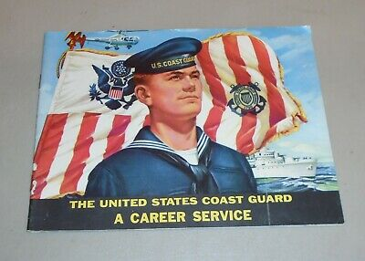 Vintage 1961 US Coast Guard Recruiting Literature Fact History Booklet Career