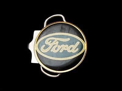 LG03117 VERY COOL VINTAGE 1970s ***FORD AUTOMOTIVE*** CAR BELT BUCKLE