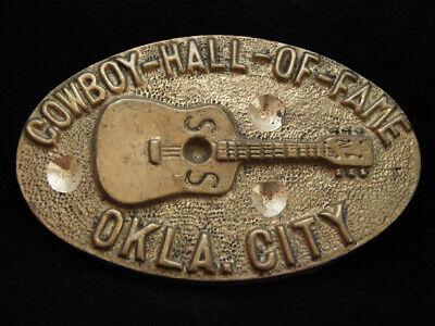 NI01162 VINTAGE 1970s **COWBOY HALL OF FAME** SOLID BRASS BARON BELT BUCKLE