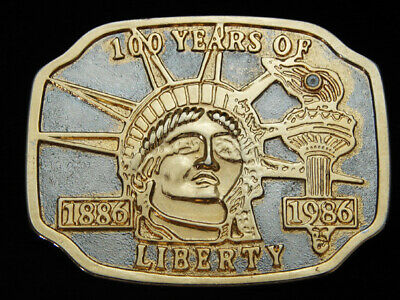Oh11107 Vintage 1986 **100 Years Of Liberty** Commemorative Belt Buckle