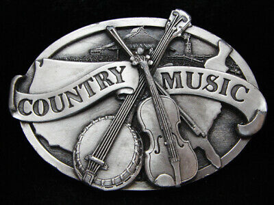 Oi27149 Vintage 1984 **Country Music** Commemorative Pewter Siskiyou Belt Buckle
