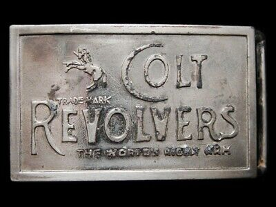 LH11153 VINTAGE 1970s ****COLT REVOLVERS THE WORLDS RIGHT ARM**** BELT BUCKLE