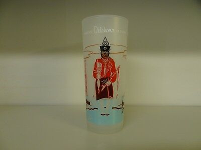 KNOX OIL CO Glass ACEE BLUE EAGLE Famous OKLAHOMA INDIANS Osage Bacon Rind