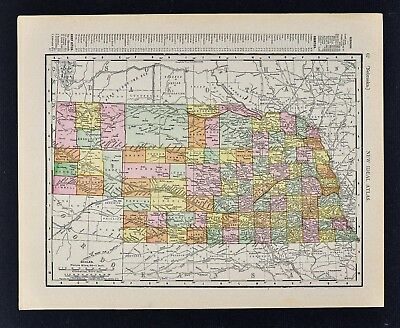 1911 McNally Index Map - Nebraska Omaha Lincoln Sioux City Grand Island Fremont