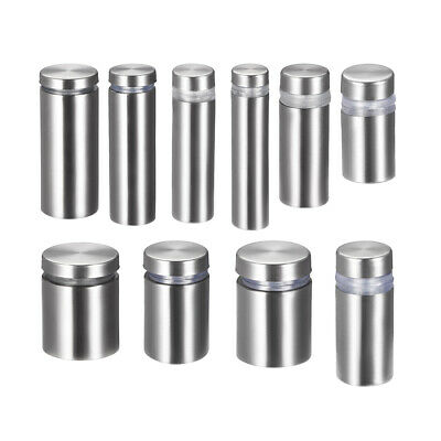 Glass Standoff Mount,Stainless Steel Wall Standoff Holder Advertising Nails 4pcs