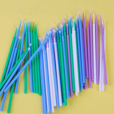 400pcs Disposable Dental Micro Applicator Brush Bendable Eyelashes Mascara Swab