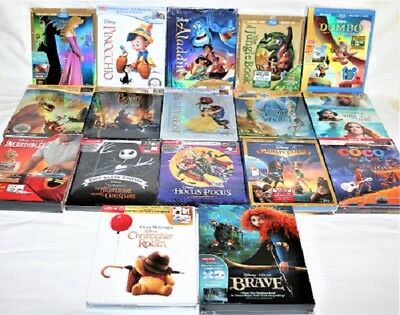 Set of 17 Disney Blu-Ray Digibook Aladdin Jungle Book Dumbo NEW TARGET EXCLUSIVE