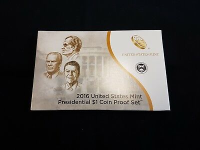 2016 U.S. Mint Presidential 1$ Dollar Coin Proof Set Complete With Box & COA -WB
