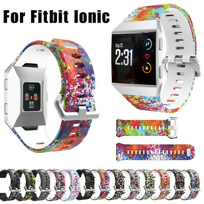 Sport Fashion Pattern Silicone Strap Wrist Band Replacement For Fitbit Ionic USA
