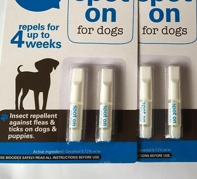 Dog Flea, Dog Flea Treatment , Spot On, Flea And Tick, Free Post And FOUR Tubes