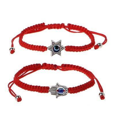 Lucky Kabbalah Red String Bracelets Hamsa Blue Evil Eye Fatima Hand Jewelry