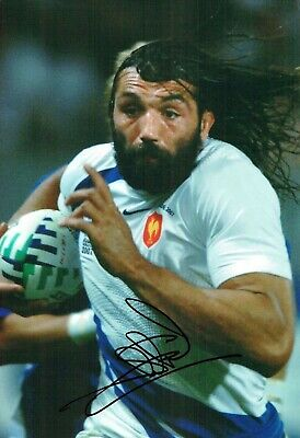 Sebastien CHABAL FRENCH Rugby Union Signed 12x8 France Photo AFTAL COA