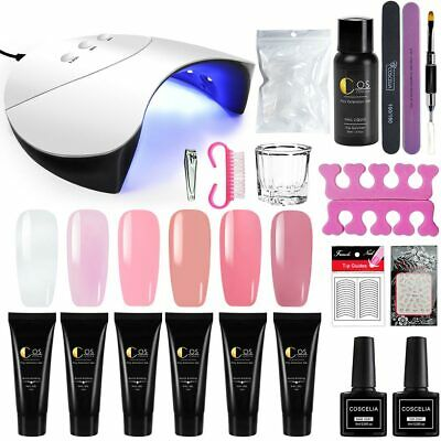 Complete Poly Builder Gel Kit Fast Extension Gel Kit 36W UV LED Lamp Nail Tool