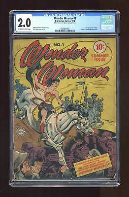 Wonder Woman (1st Series DC) #1 1942 CGC 2.0 0520857001