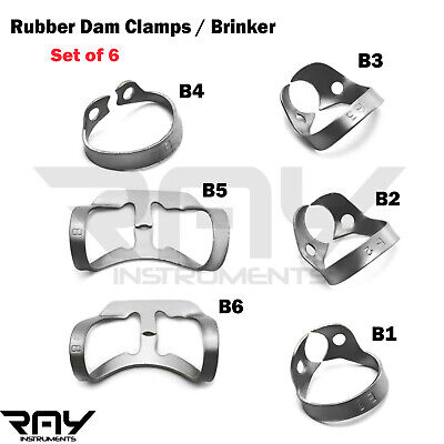 Dental Rubber Dam Clamps Brinker Clamp Tissue Premolar Clamp Molar Instruments