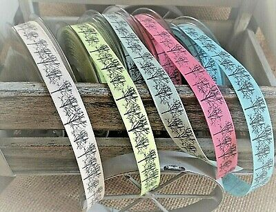 Berisfords Couture TREES Ribbon 15mm - 5 Shades, various lengths **retired**