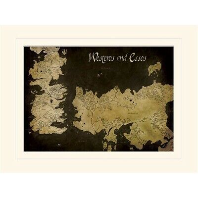 Game Of Thrones (westeros And Essos Antique Map)