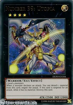 DUPO-EN104 Number 39: Utopia Ultra Rare Limited Edition Mint YuGiOh Card