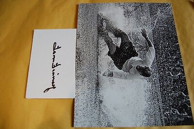 Englands Tom Finney Signed White Card With England Splash 10X8