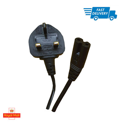 1.5M C7 2 pin LAPTOP AC ADAPTER, CHARGER POWER LEAD, MAINS CABLE CORD UK PLUG