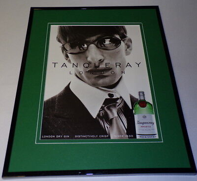 1999 Tanqueray Dry Gin Framed 11x14 ORIGINAL Advertisement