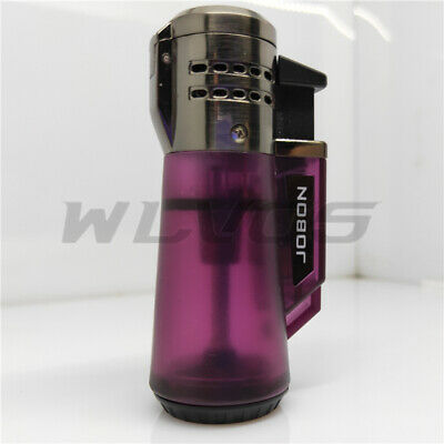 Torch Lighter Triple Jet Flame Refillable Butane Lighter Gas Fluid LighterPurple