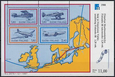 Finnland MiNr. Bl. 4 ** Internationale Briefmarkenausstellung FINLANDIA `88