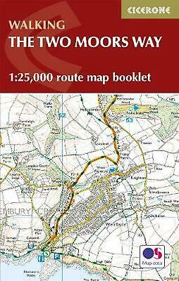 Two Moors Way Map Booklet: 1:25,000 OS Route Mapping by Sue Viccars Paperback Bo
