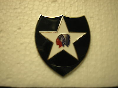 UNIFORM INSIGNIA - U. S. ARMY 2nd INFANTRY DIVISION COMBAT SERVICE ID BADGE