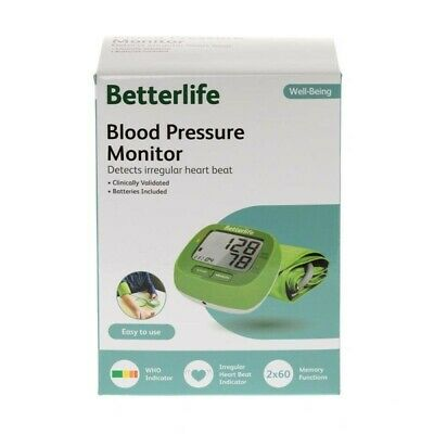 Betterlife Digital Blood Pressure Monitor, Clinically Validated
