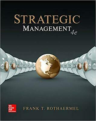 Strategic Management Concepts 4th Edition by Rothaermel Paperback Book Free Ship