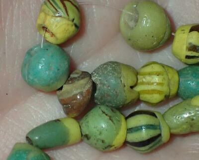 20 Ancient Rare Egyptian Alexandria Glass beads, 1800+Years Old, 7-11mm, #S189