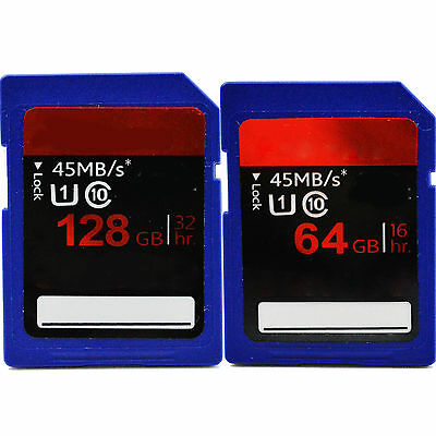 Hot Sale 64GB 128GB SDHC SD Card Memory Card High Speed For Camera + Free Case