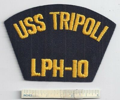 New USS TRIPOLI LPH-10 Hat Patch Helicopter Carrier Ship US Navy USN U.S.S. USA