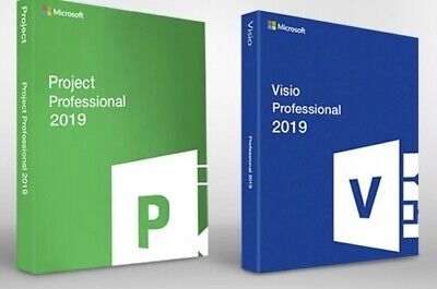 MS Visio & Project Professional 2019 Pack Deal - 1 PC - Refund Guarantee