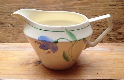 Vintage Art Deco 1930's Hand Painted Milk Jug/Retro China/Floral/Crown Ducal