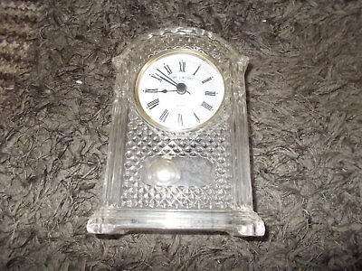 Vintage Glass Clock Good Condition