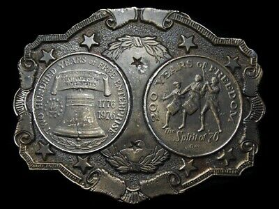 Lh03152 Vintage 1976 **200 Years Of Freedom & Free Enterprise** Belt Buckle