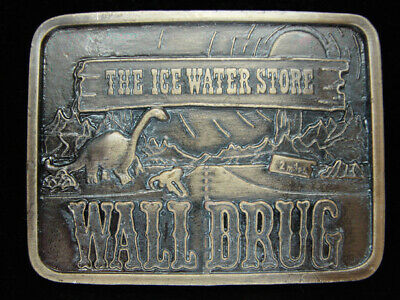OI19120 *NOS* VINTAGE 1970s *WALL DRUG THE ICE WATER STORE* SOUTH DAKOTA BUCKLE