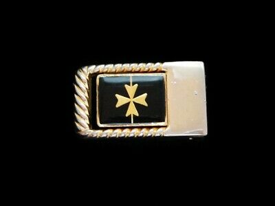 NG09106 VERY COOL VINTAGE 1970s **IRON CROSS** FASHION GOLDTONE BELT BUCKLE
