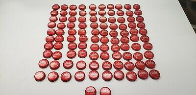 100 Lot BUDWEISER BUD CROWN Red  Beer Bottle Caps Crowns~NO DENTS COLLECTIBLE