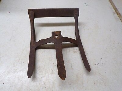 Old Push Type Garden Cultivator Attachment 3 Tine one side Blade on other