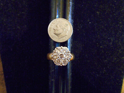 bling gold plated ICED OUT cubic cluster FASHION BAND ring hip hop JEWELRY SZ 4