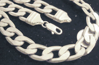 bling silver plated 12mm link figaro hip hop rapper music chain necklace jewelry
