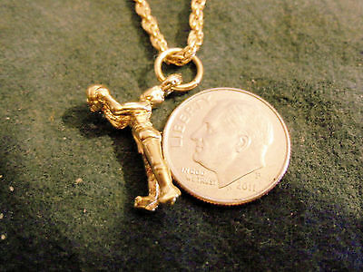 bling gold plated basketball SPORTS GAME PLAYER shooter pendant charm necklace