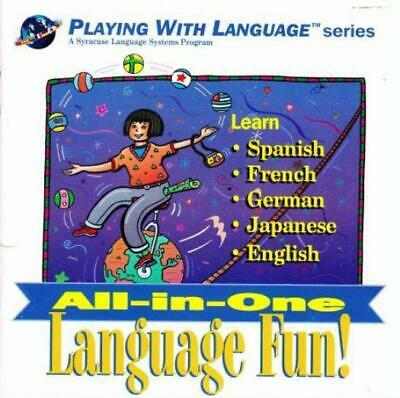 All-In-One Language Fun PC CD learn spanish french german japanese english words