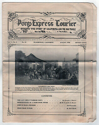 1938 PONY EXPRESS COURIER Newspaper PLACERVILLE CALIFORNIA Placer Tahoe TRAILS